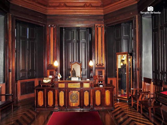 Vista do espaço expositivo Sala do Juiz - Palacete Conde de Sarzedas - Sé - São Paulo