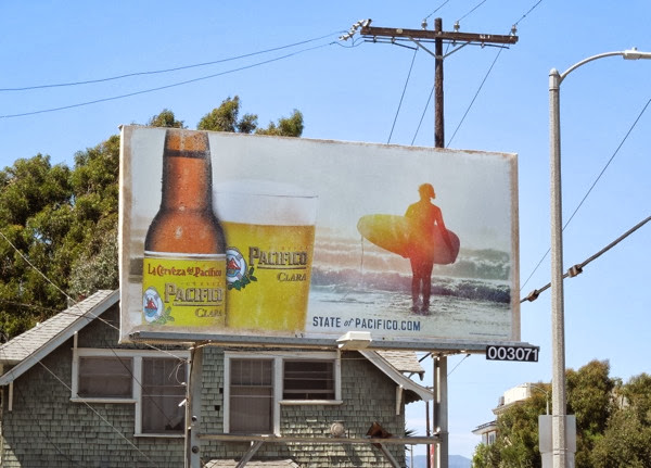 Pacifico Beer male surfer billboard