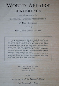 World Affairs Conference in honor of Carrie Chapman Catt, 1930