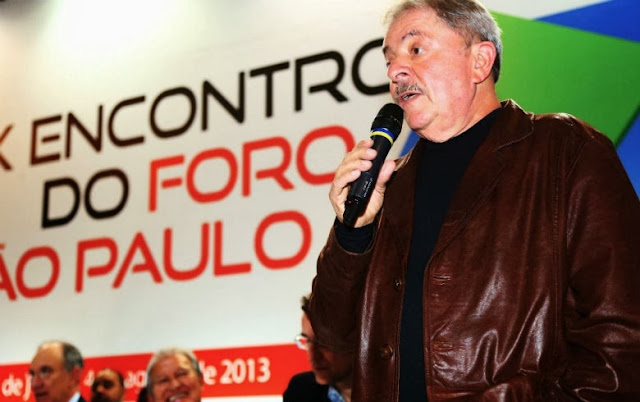 Resultado de imagem para Lula discursando no Foro de SP