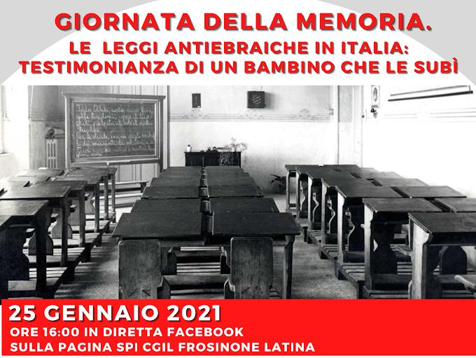 GIORNATA DELLA MEMORIA. LE LEGGI ANTIEBRAICHE  IN ITALIA: TESTIMONIANZA DI UN BAMBINO CHE LE SUBÌ