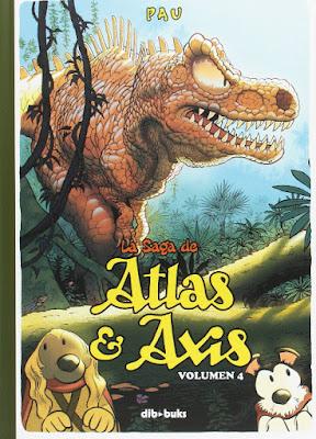 La saga de Atlas y Axis - volumen 4 de Pau, edita Dibbuks comic perros