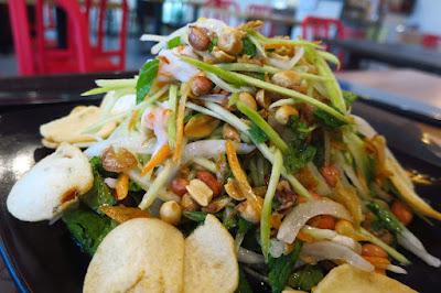 Uncle Ho Tuckshop, green mango prawn salad with mint