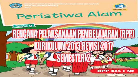 RPP Kelas 1 Tema 8 Kurikulum 2013 Revisi 2017