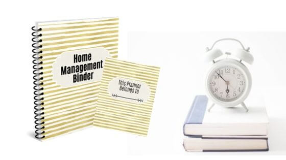 Home Management Binder Planner Printables for productivity and time management