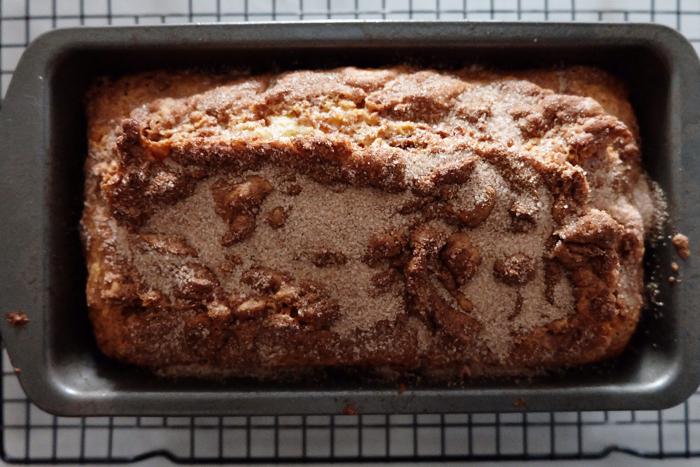 freshly baked cinnamon bread