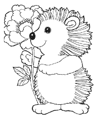 Mini Hedgehogs Coloring Pages For Kids