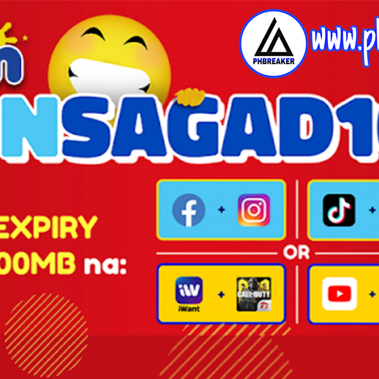 TM FUNSAGAD Promos For ₱10: 400MB Data No Expiration
