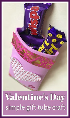 Valentine's Day simple craft for children to gift