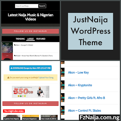 JustNaija WordPress Theme