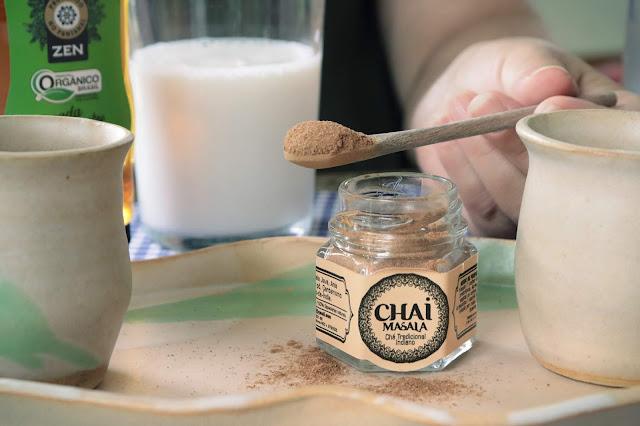 Chai Masala com leite gelado