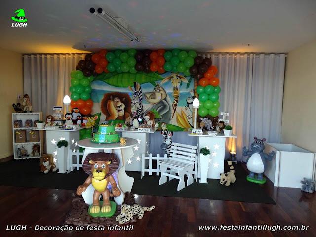 Tema infantil Madagascar - decoração de festa de aniversário - Provençal simples