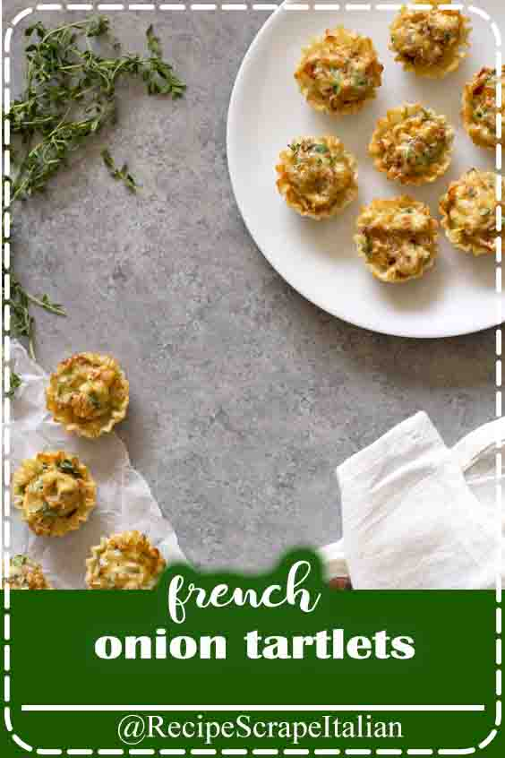 top the presses. These French Onion Tartlets square measure theee appetiser for any of your party desires. whether or not it's for vacation gatherings or dinner parties or extravagant soirees or maybe weddings, these poppable savory bites square measure good for all occasions.    You guys — square measure we have a tendency to cool to speak concerning Thanksgiving yet? I mean, it's virtually the largest social ingestion occasion of the year, and that i grasp we have a tendency to all like to hang around and eat. It's our factor. Ergo, Thanksgiving is completely our factor, thus it's entirely alright to remark it already (it's November and there square measure Christmas trees altogether the stores already, for Pete's sake! provide Maine period of time and Mariah Carey Christmas are going to be taking part in on my mythical being radio). That's my line of reasoning anyway to speak to you concerning these bomb French Onion Tartlets that i want you to feature forthwith thereto Thanksgiving menu i do know you've already entirely planned (ahem). Bonus points if you choose to create them prior to time, you know, for the analysis.    The Story Behind These French Onion Tartlets  The inspiration for these very little bites o' elation came from {a we have a tendency todding|a marriage} we attended last weekend in city for one amongst my love childhood friends. She and her husband had their reception at the initial Pabst still that's currently changed into a beautiful venue and for hors d'oeuvres, they'd bacon-wrapped shrimp (YUS), brat shots (a shot of brew with a slice of pork sausage and a containerful of dish on a stick, thus clever) and what I will solely presume were French onion tartlets. They were served in flaky pate feuillete cups and full of a creamy caramelized onion mixture and that i concerning grabbed the complete receptacle from the waiter to eat them within the corner all unaccompanied. on the other hand i believed higher of that concept and determined to recr