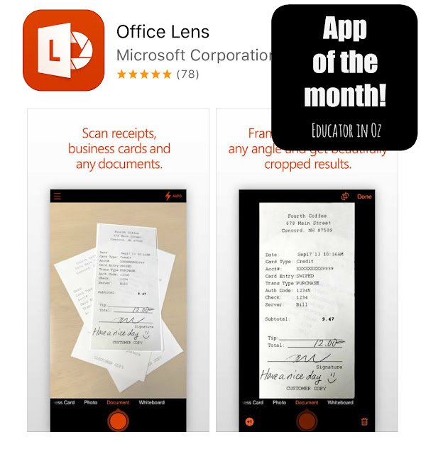 App of the Month - Microsoft Office Lens @natashainoz