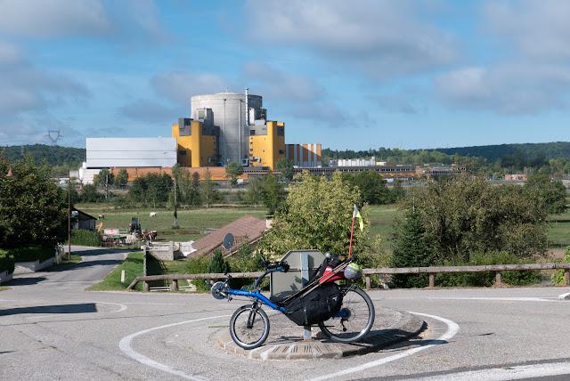 Voyage à vélo, Crey-Malville