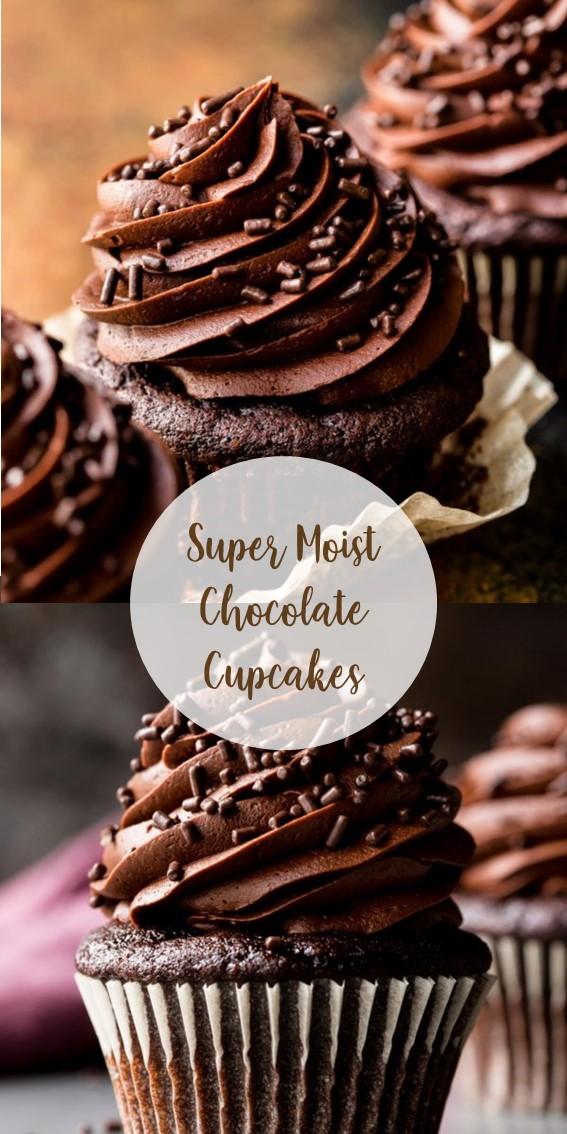 Super Moist Chocolate Cupcakes #Chocolate #Cupcakes #Cake