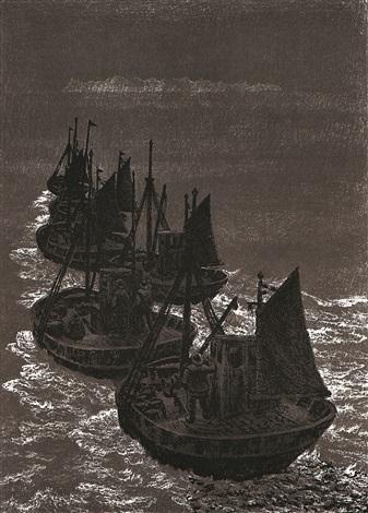 Kabelvag galerie espolin  tableau de Kaare Espolin Johnson   : Vers les Lofoten