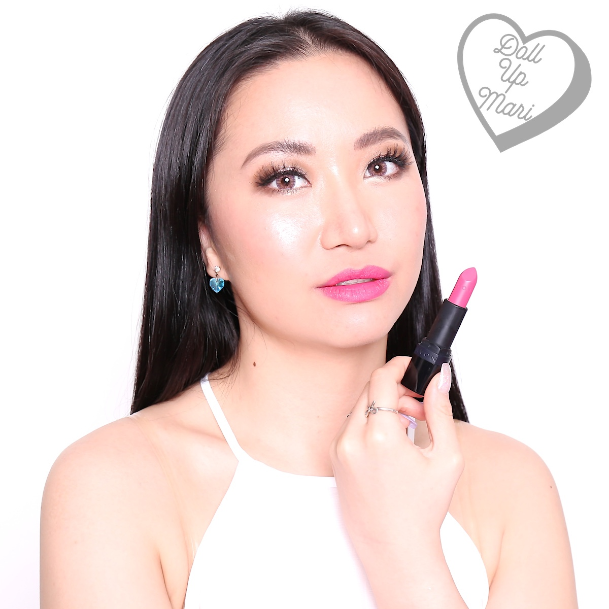 Wearing Adoring Love shade of AVON Perfectly Matte Lipstick