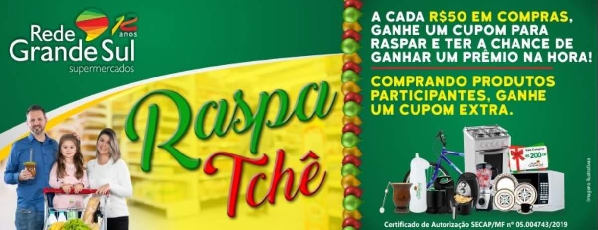 Participar Promoção Raspa Tchê Rede Grande Sul Supermercados