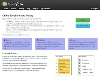 Screenshot of OpaVote website as of May 2016.