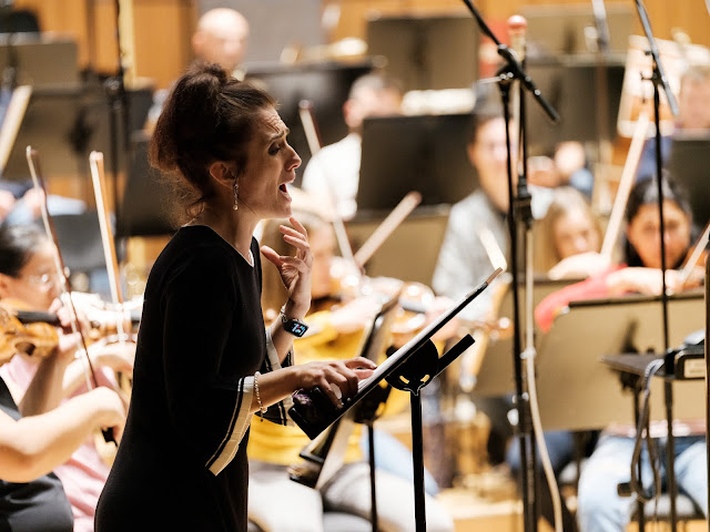 Recording sessions - Ermonela Jaho, Orquestra de la Comunitat Valenciana - Valencia, 2019 (Photo Simon Weir)