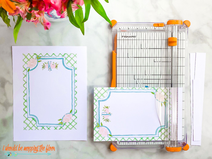 Monogrammed Stationery Printables