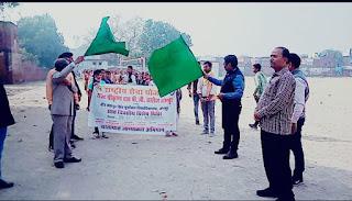 राज कालेज के शिविराथियों ने निकाला सड़क सुरक्षा जागरूकता रैली  | #NayaSaberaNetwork