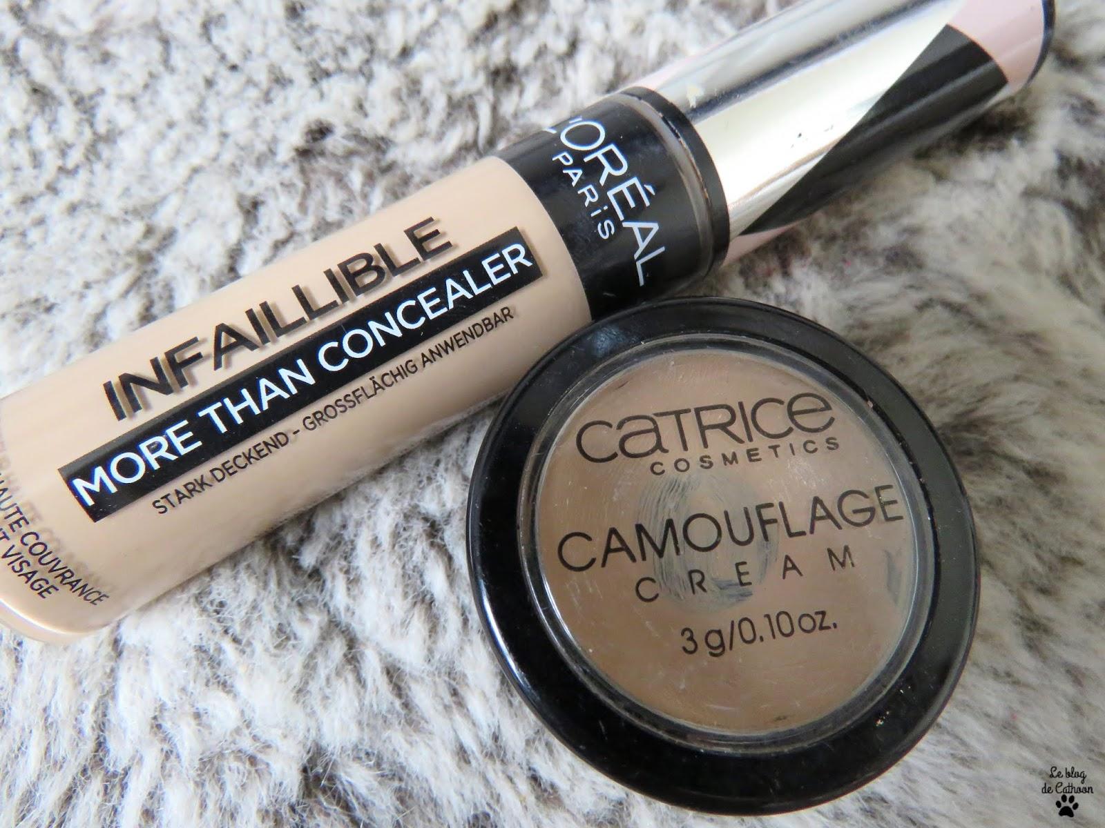 Camouflage Cream - Correcteur de Teint - Catrice More Than Concealer - Correcteur Haute Couvrance - Infaillible - L'Oréal