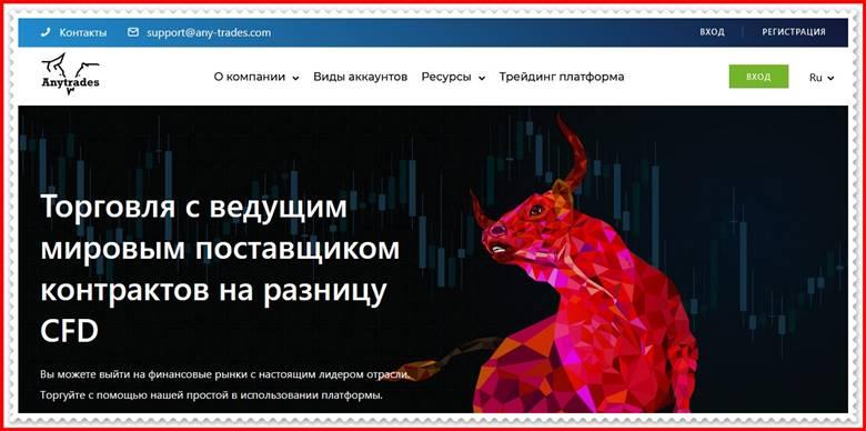 [ЛОХОТРОН] any-trades.com – Отзывы, развод? Компания AnyTrade мошенники!