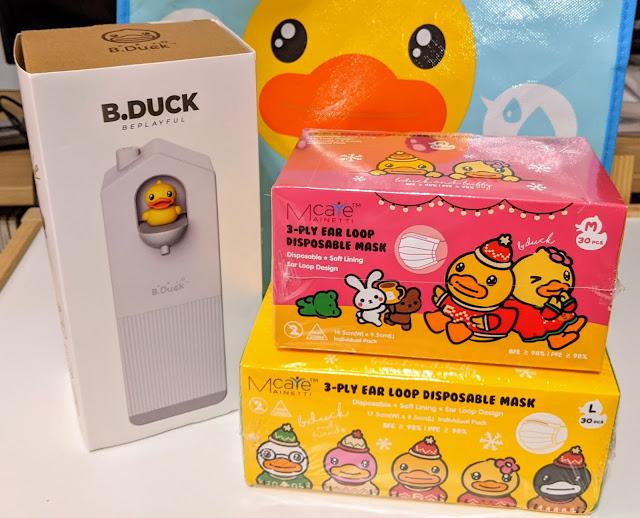 [育兒] 氹小朋友戴口罩 洗洗手 - B.Duck聖誕限定口罩+自動泡泡洗手機