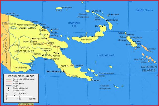 Gambar Peta Papua Nugini