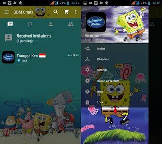 BBM Themes Animasi Spongebob