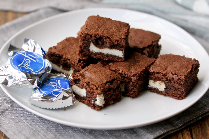 York Peppermint Patty Brownie Bites