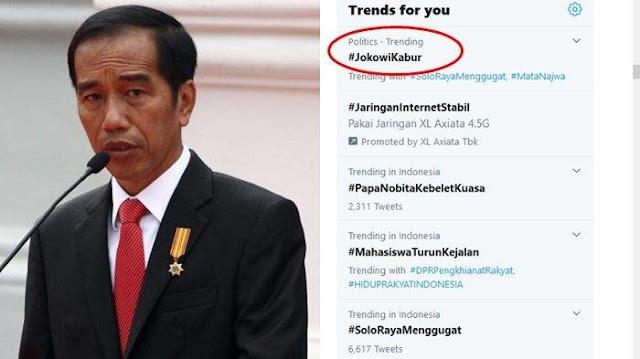 Mahasiswa dan Buruh Kepung Istana Hari Ini, #JokowiKabur Hebohkan Medsos