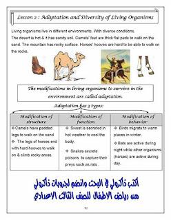مذكرة ساينس رائعة للصف الاول الاعدادي الترم الاول للاستاذة رنا محمد