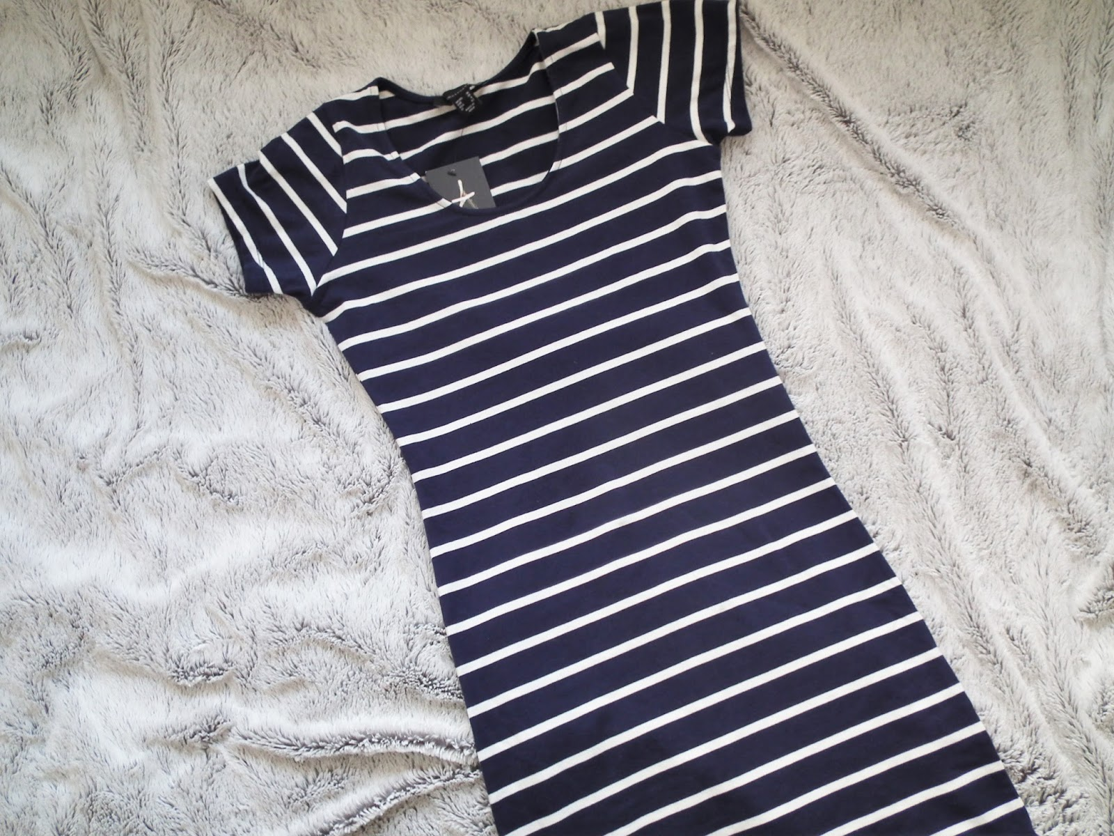 Primark Haul - Spring 2016 Blue and white striped bodycon dress