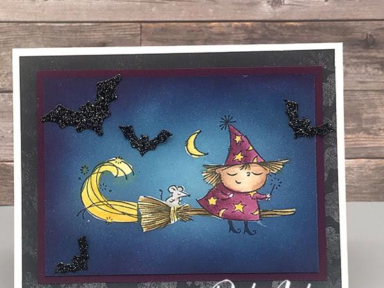 Flight of Fancy Halloween Card - The Spot Challenge #129