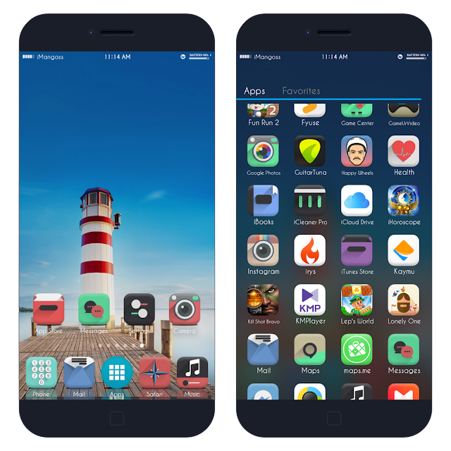 A new tweak is available in Cydia which offers appdrawer similar to android on iOS. This looks really beautiful. This tweak offers similar UI from the android.