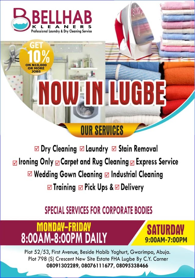 Bellhab Kleaners Announces Lugbe, Abuja Expansion