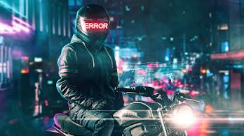 Helmet, Error, Motorcyle, Digital Art, 4K, #4.3067