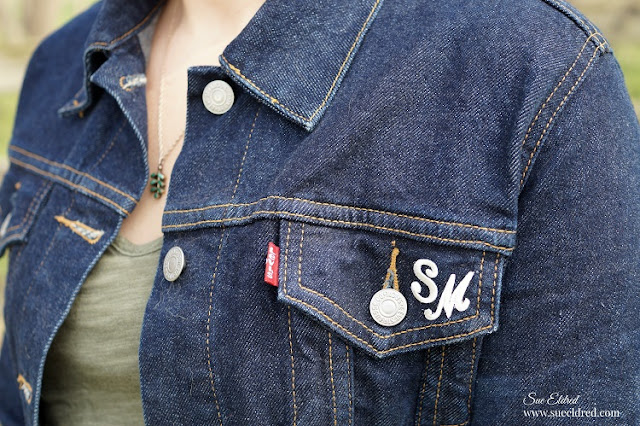 monogrammed jean jacket