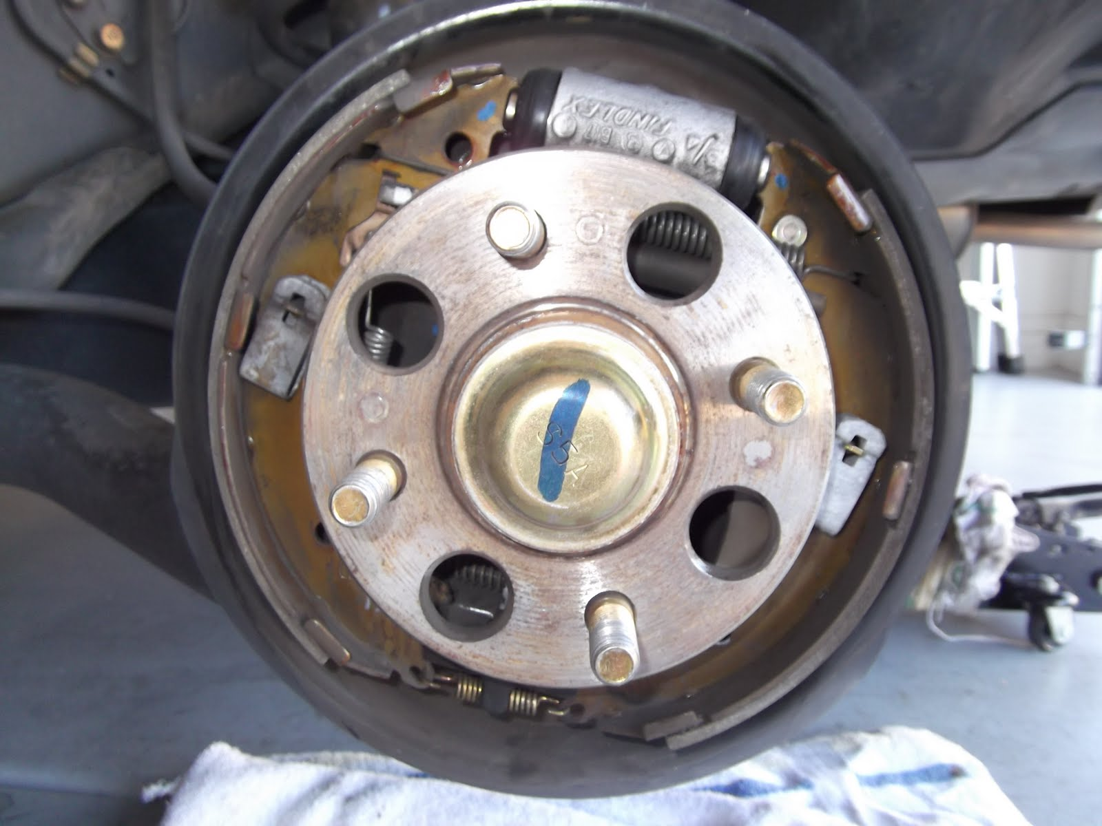 Omid S Diy Web Log 2002 Honda Civic Hx Rear Drum Brake