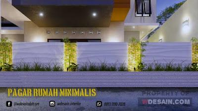 Desain Pagar Model Rumah Minimalis