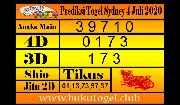 Prediksi Togel Sydney 4 Juli 2020