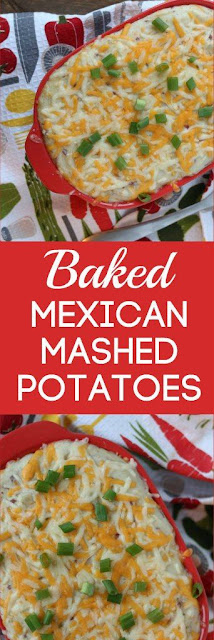 Baked Mexican Mashed Potatoes