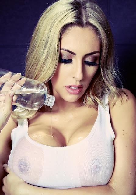 Ashley Emma big boobs pics white top