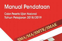 Download Modul Sistem Pendataan Calon Peserta Ujian Nasional/UN SMA Online 2019