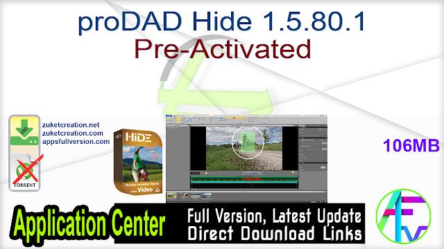 proDAD Hide 1.5.80.1 Pre-Activated