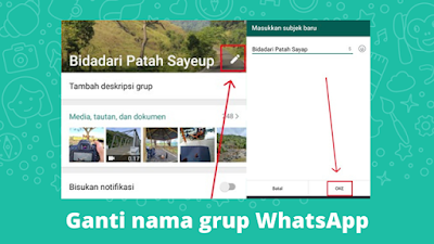 Cara Mengganti Nama Grup WhatsApp