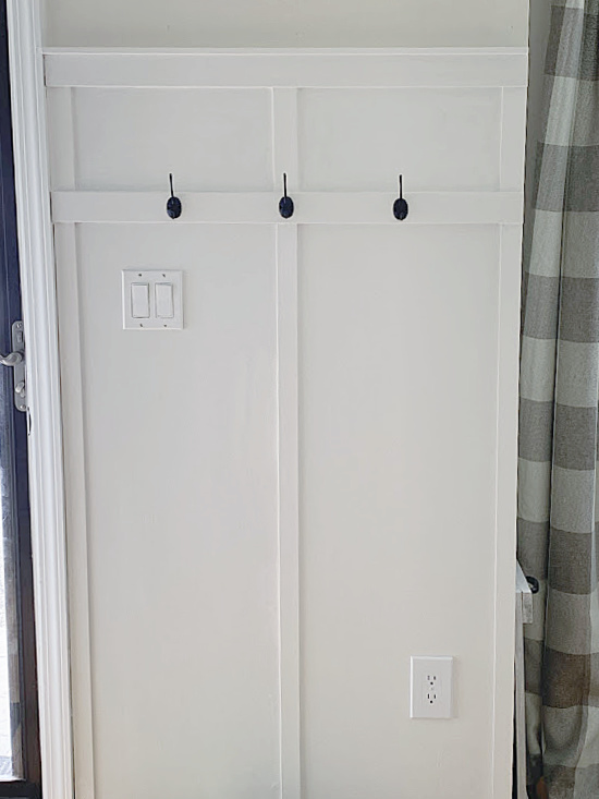 board and batten with hooks